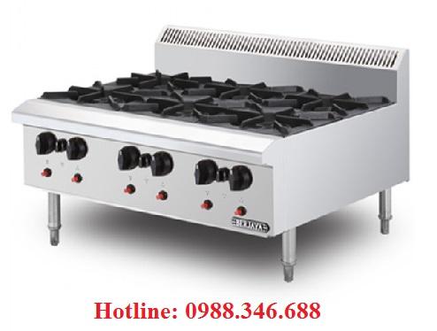 Bếp âu 6 họng dùng gas Berjaya OB6-17