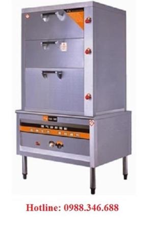 Tủ hấp cơm gas và điện 3 ngăn đa  năng